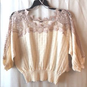 Free People Love Lace Sweater (M-L) NWOT